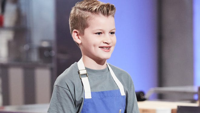 """Cole Frederickson, 12, of Thousand Oaks, is seen on the set of """"Kids Baking Championship."""" Now in its third season, the show airs Mondays on the Food Network."""