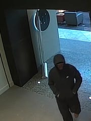 One of the security camera photos released by the Ontario County Sheriff's Office of the men who tried to rob the Eastview Mall Mann's Jewelers.