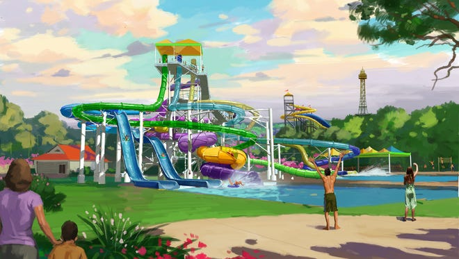 A rendering of Tropical Plunge.