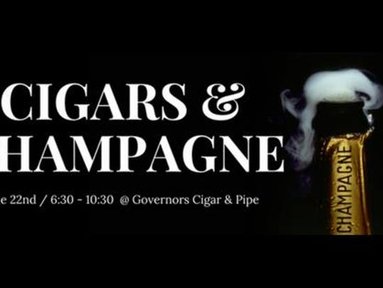 Cigars & Champagne is Friday at 6:30 p.m.