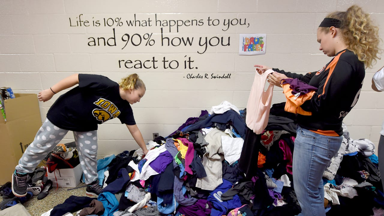 Jamie Myers and other members of the Impact Foundation created Impact closet in the York Suburban school district, to help students in need of basic items like food and clothes.