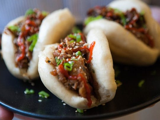 Steamed bao buns with pork belly will be on the menu