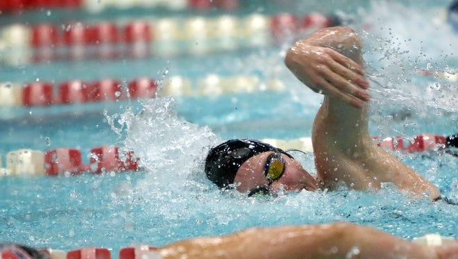 Menomonee Falls swimmer Cassie Stegner competes in the 200-yard freestyle Nov. 12 at the 2016 state swimming and diving meet in Madison. She had two top-10 finishes.