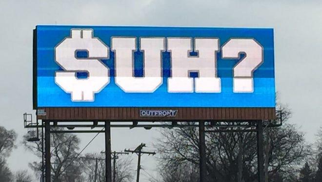 A billboard on I-75