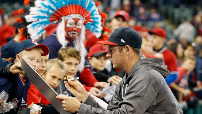 Trevor Bauer was a mere spectator for the first two games of the ALCS after lacerating his right pinkie while repairing his drone.