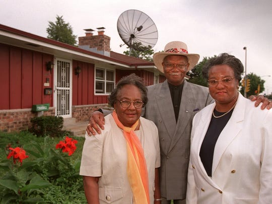 Vernadine Brooks, her husband Beechie and daughter Cassandra stand outside their house in Halyard Park in this 1997 photo. The Brooks family were the first homeowners in the Halyard Park subdivision at 2000 N. 6th St. The area is a 100% owner-occupied neighborhood.