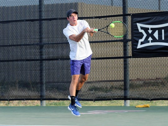 Wylie's Lane Adkins reaches for a backhand during the