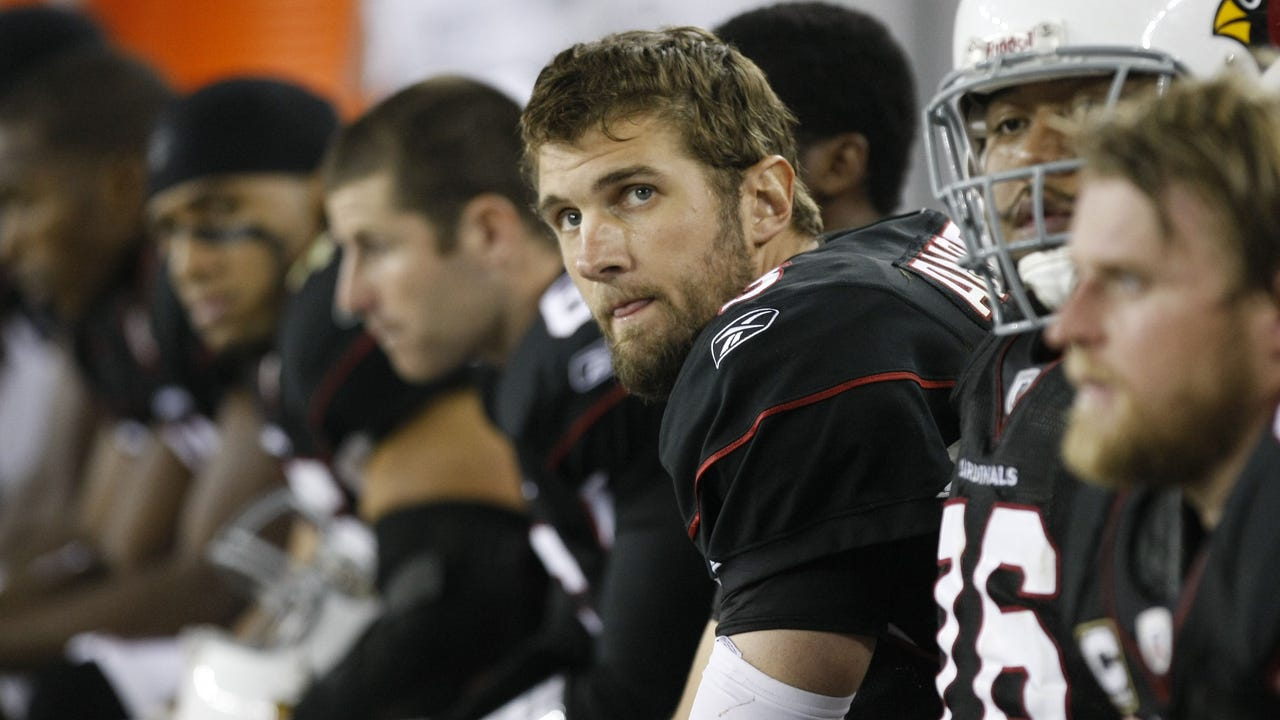 azcentral sports' Kent Somers explains his questioning of Derek Anderson after an ESPN video clip showed him smiling on the sidelines with teammate Deuce Latui. Video courtesy of 12 News
