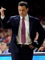 Arizona Wildcats head coach Sean Miller's name has