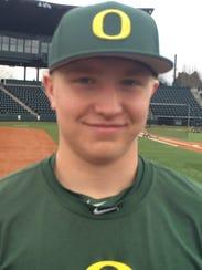 Oregon baseball player, and former South Salem standout,