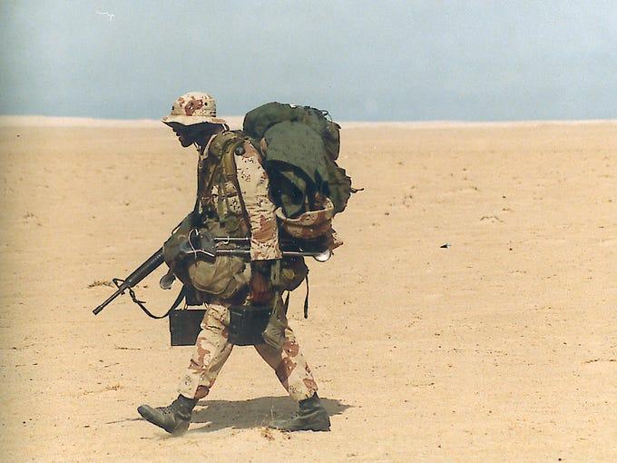 A soldier in Command Sgt. Maj. Robert Nichols' brigade