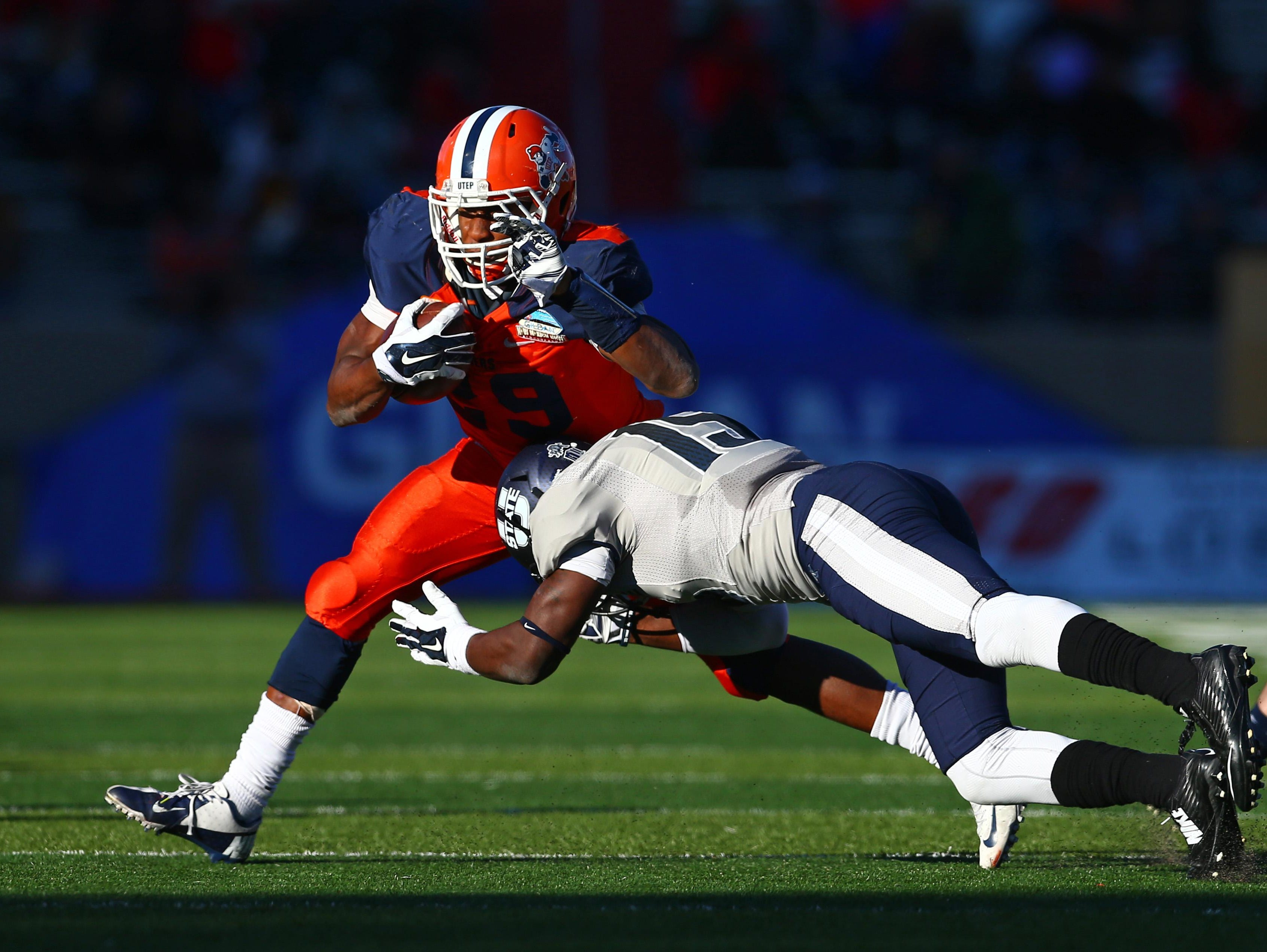 UTEP's junior running back Aaron Jones will be a focal point for the Arkansas defense. Jones has rushed for more than 1,000 yards in each of his first two seasons, including 1,321 yards in 2014.