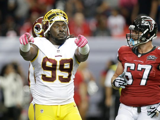 Washington Redskins defensive tackle Ricky Jean Francois