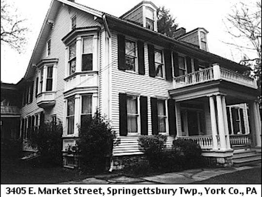 Photo of 3405 East Market Street from Late-1980s Survey by Historic York, Inc. of Historic Properties in York County (April 1989 photo by Cheryl Neff)