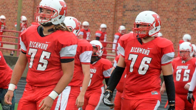 Richmond hosted Arsenal Tech in a football game Friday, Sept. 1, 2017 at Lyboult Field.