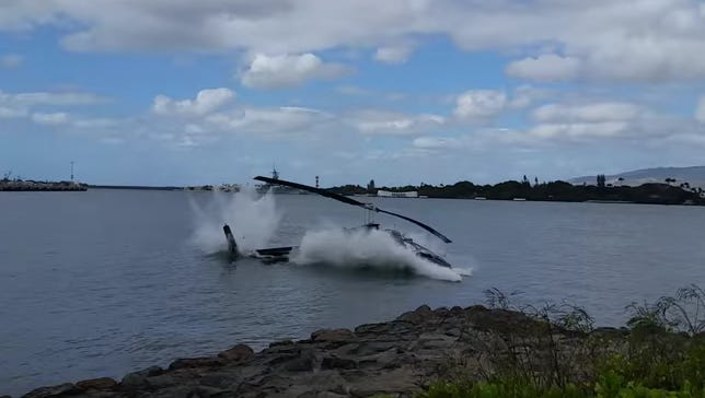 Helicopter crash in Hawaii