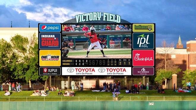 Victory Field will get a new HD video board for the 2017 season.