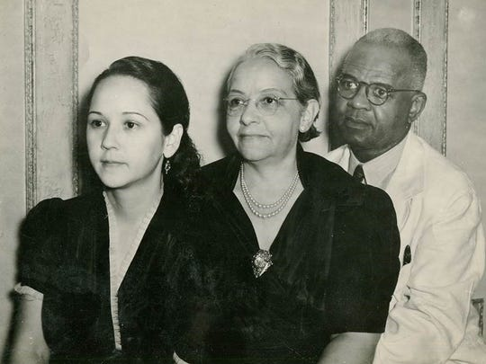 Mitchell Spellman's parents, Frank (right) and Altonette, are pictured with their daughter, Ruby (left). Frank Spellman, the son of slaves, started the first grade at age 16 or 17 and became a respected family doctor, primarily for the black community, in Alexandria in the 1930s and '40s.