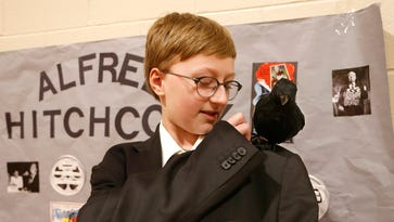 Fifth grader as... Alfred Hitchcock? Historical figures come to life