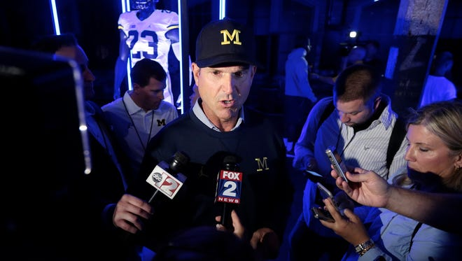 Michigan football coach Jim Harbaugh.