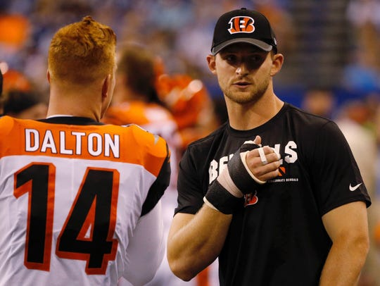 Bengals QB Jeff Driskel injured his thumb in the preseason