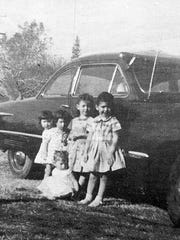 Eula Holden's five granddaughters she and her husband took in in 1957. From left, twins Sharon and Karen, Glenda, Linda and, in front, Brenda Fay.