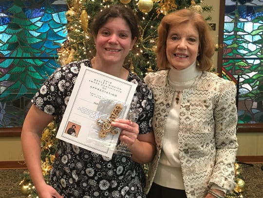 Bayley Mission Award recipient Vicki Moore and Bayley