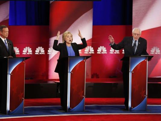 Hillary Clinton, Bernie Sanders, Martin O' Malley