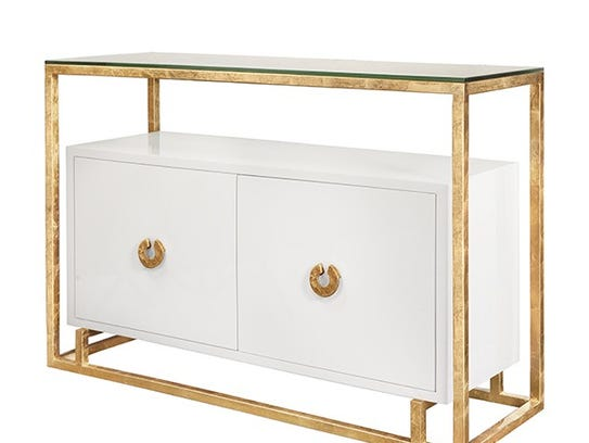 This cabinet combines storage and beauty in one stunning
