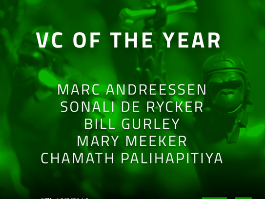 9th Annual Crunchies Awards Finalists - VC of the Year