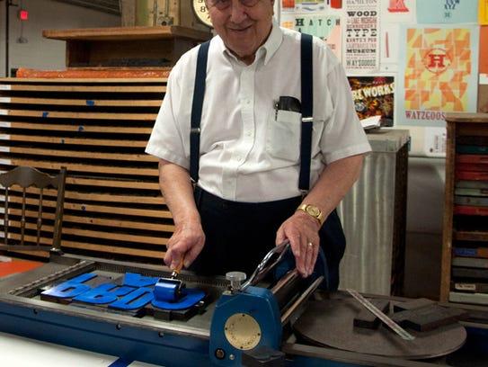 Hamilton Wood Type & Printing Museum founder Jim Van