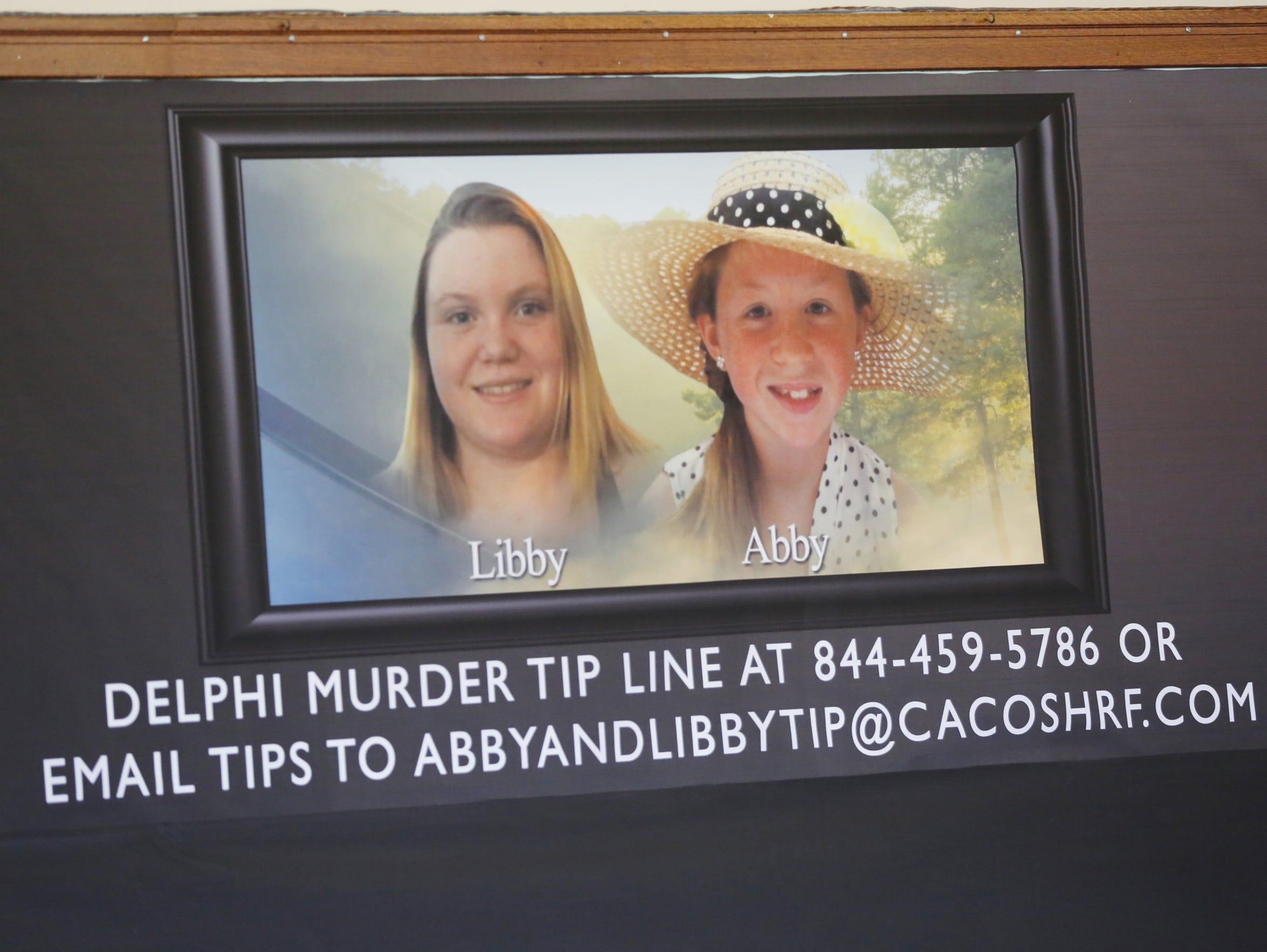 Posters of slain Delphi teens Liberty German and Abigail