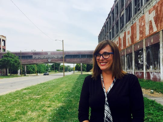 Kari Smith, director of development for Arte Express Detroit. Photo taken at Packard Plant on July 29, 2016.