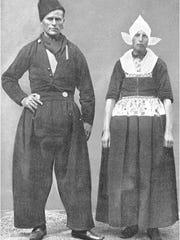 Dutch immigrants in their ethnic garb.