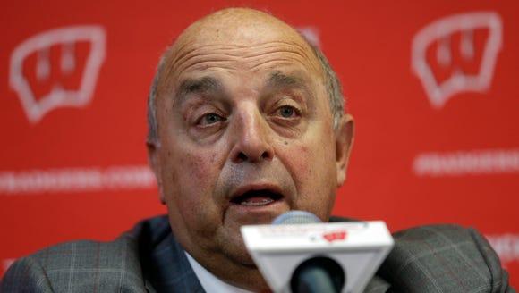 Wisconsin Athletic Director Barry Alvarez
