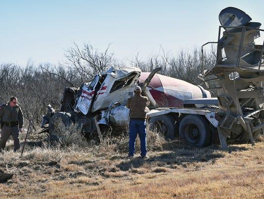Cement Truck Rollover 1