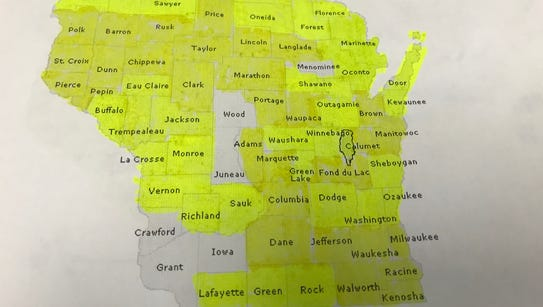 Nearly complete: There are six more counties to visit