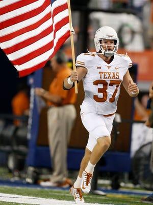 Nate Boyer's Texas teammates called him Captain America.