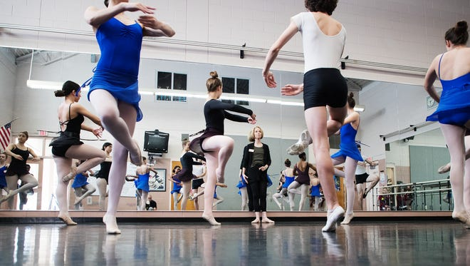 Patty Gair teaches a dance class at Cypress Lake Academy for the Arts recently. She is a 2017 Golden Apple winner.