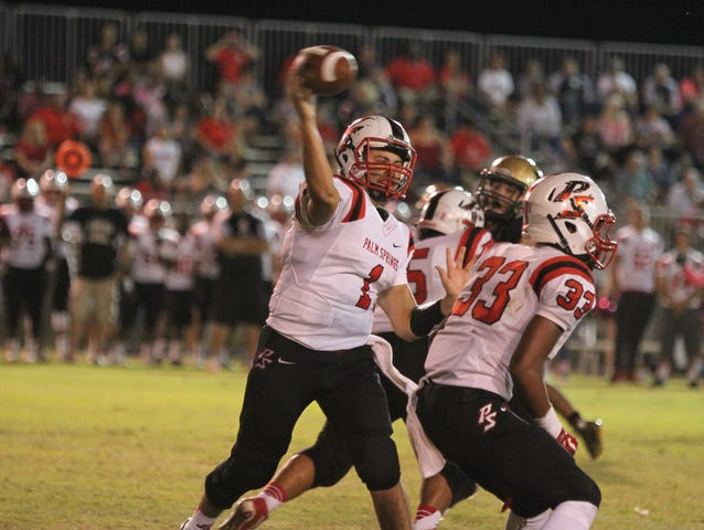 Scenes from the Palm Springs High and Xavier Prep varsity football game in Palm Desert on Friday, October 9, 2015.