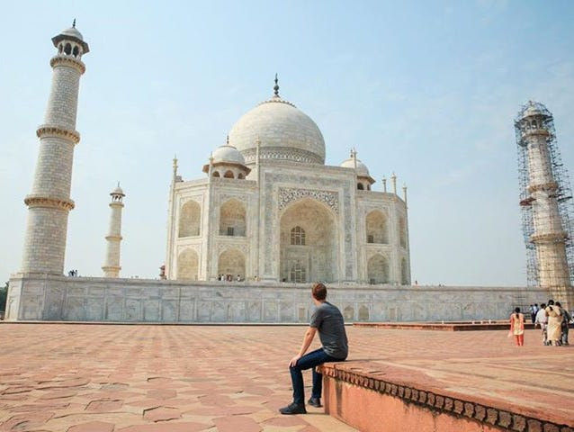 Facebook CEO Mark Zuckerberg visited the Taj Mahal on Tuesday.