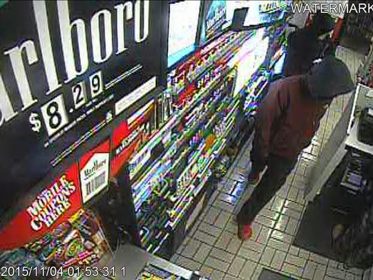 Surveillance footage from Express Mart located at 1015