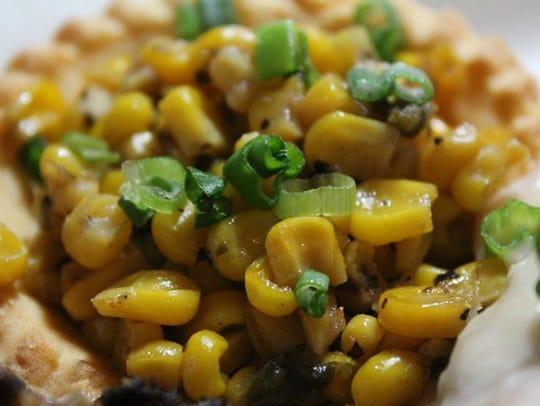 The corn maque choux at Prejean's Restaurant
