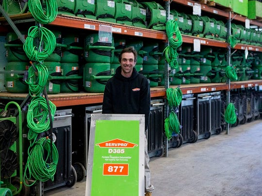 Christian Michels, a Servpro employee, is enrolled in Bancroft's Supported Employment Program.