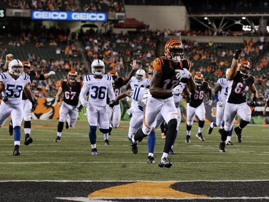 The Bengals take the lead late in the fourth quarter