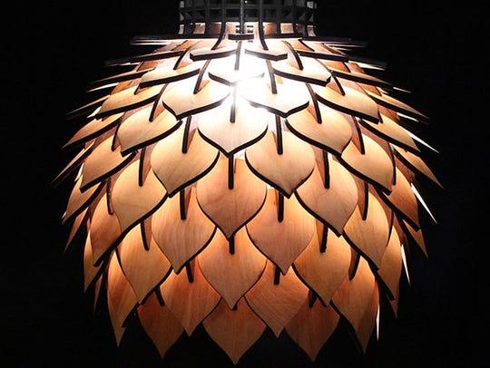 """Nick O'Donnell's piece of work titled """"Spore Lamp."""""""