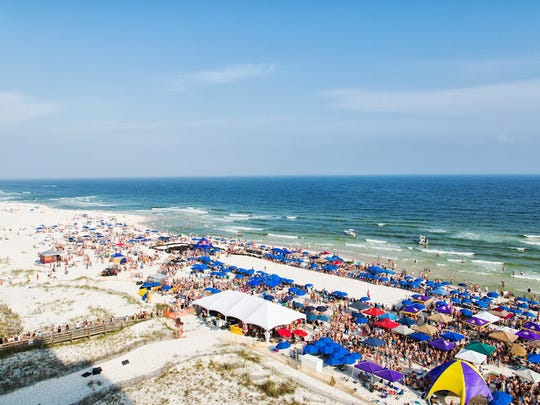 The view overlooking the Gulf Coast during the Flora-Bama Mullet Toss.
