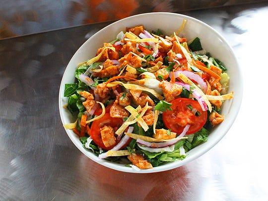The BBQ chicken ranch salad at Fired Pie is available through mid-January.