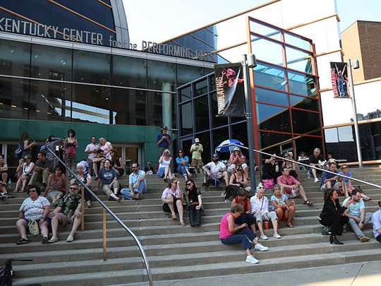 Crowd gather to listen to Appalatin at the Kentucky Center.