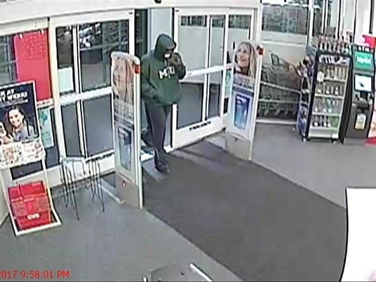 A surveillance camera captured this image of the armed